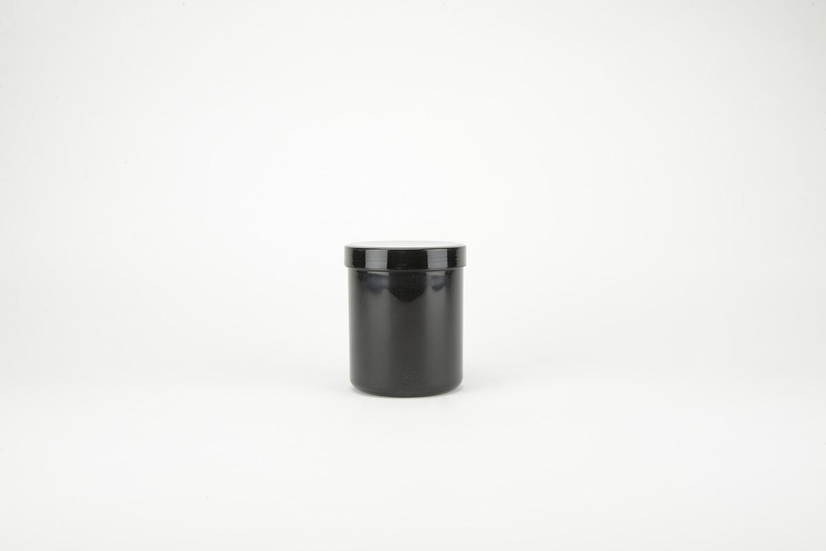 Pots à onguents en polyéthylène noir