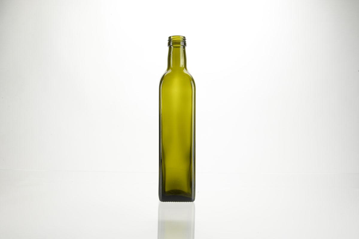 Bouteilles à huile en verre vert - PP 31.5