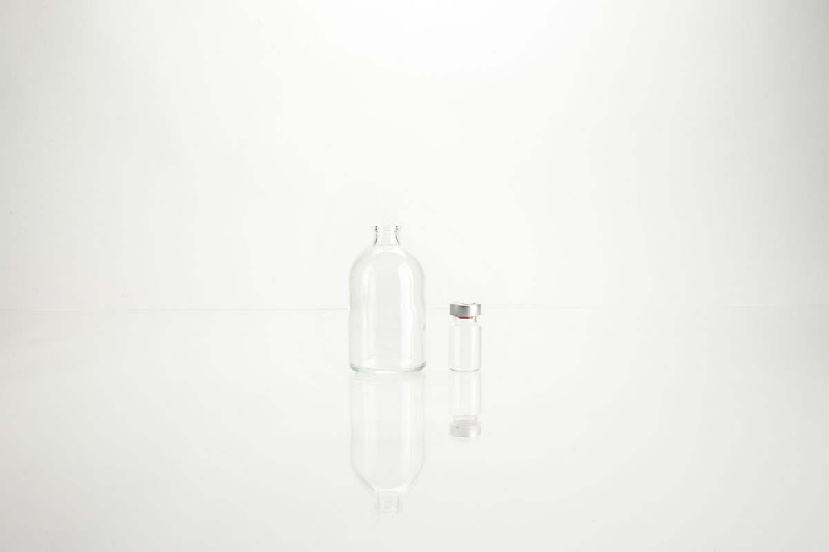 Flacons à perfusion en verre blanc