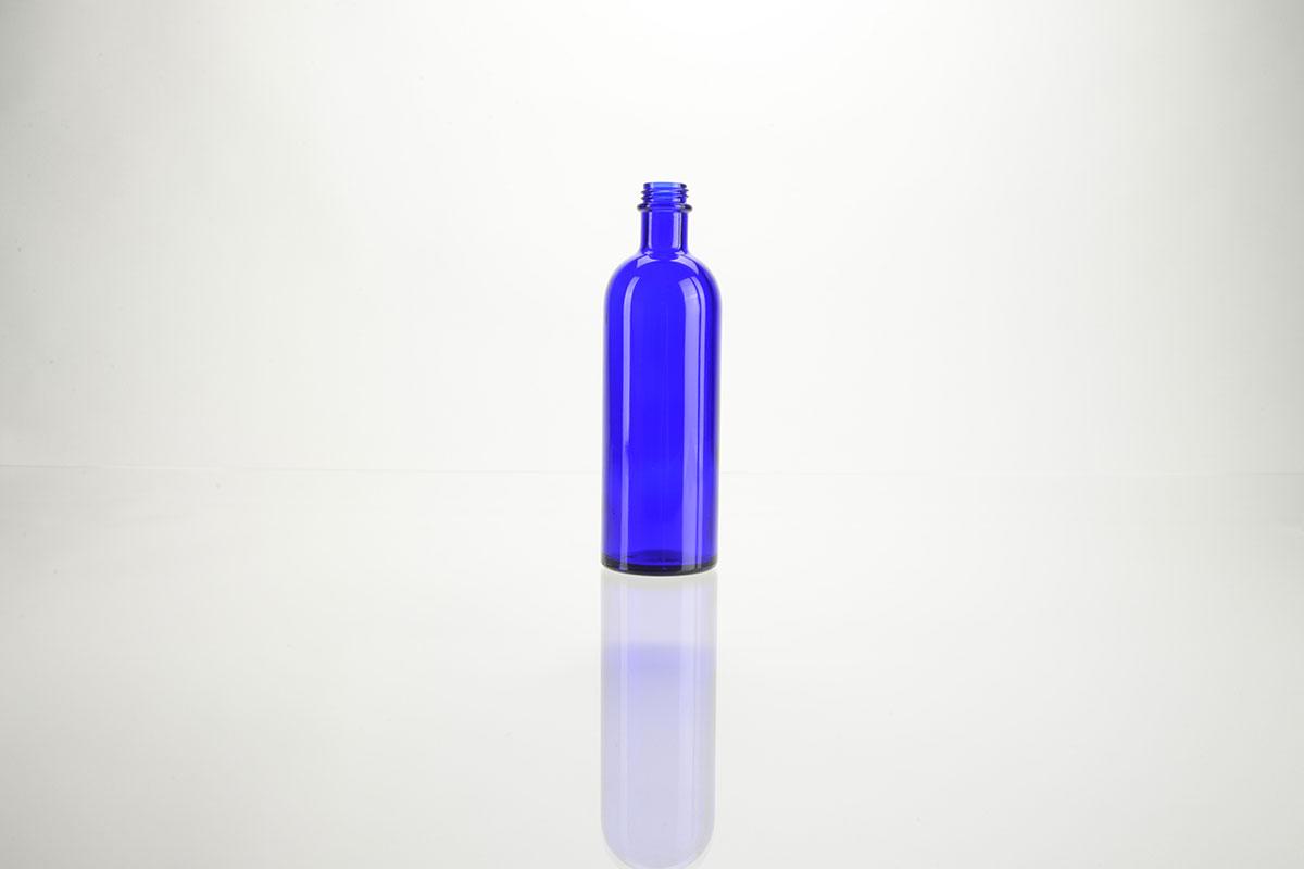 Flacons en verre bleu